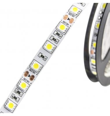 Tira LED 14,4W/m. 12VDC, SMD5050. Carrete 5 metros. 60 LEDs/m. Interior-IP20