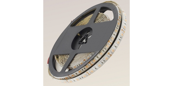 Tira LED 14,4W x metro.12VDC, SMD5050. Rollo 5 metros. 60 LEDs/metro. Uso Interior y Espacios Húmedos - IP55