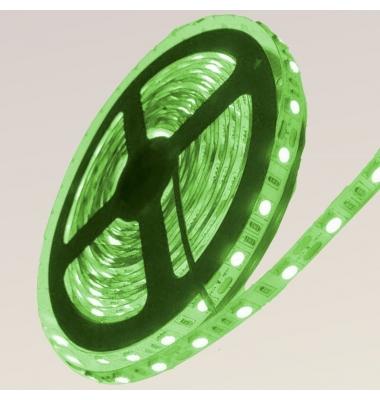 Tira LED Verde 14,4W x metro.12VDC, SMD5050. Rollo 5 metros. 60 LEDs/metro. Uso Interior y Espacios Húmedos - IP55