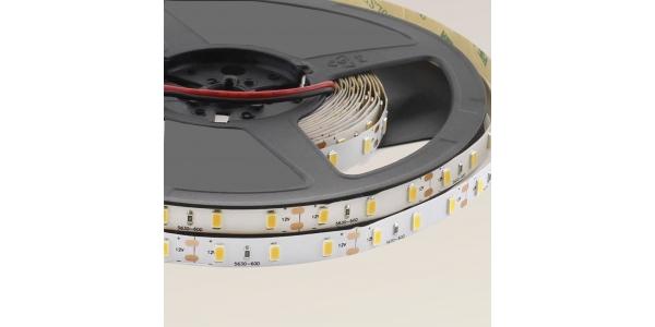 Tira LED 15W x metro.12VDC, SMD5630. Rollo 5 metros. 60 LEDs/metro. Uso Interior - IP20
