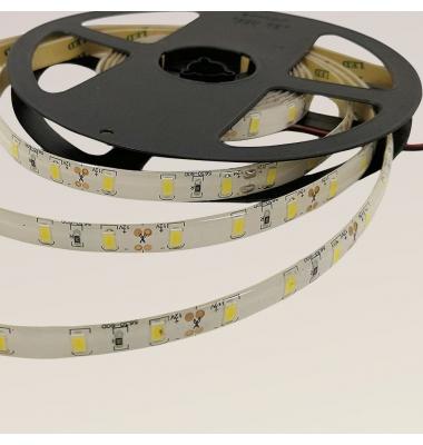 Tira LED 15W x metro.12VDC, SMD5630. Rollo 5 metros. 60 LEDs/metro. Uso Interior y Espacios Húmedos - IP65