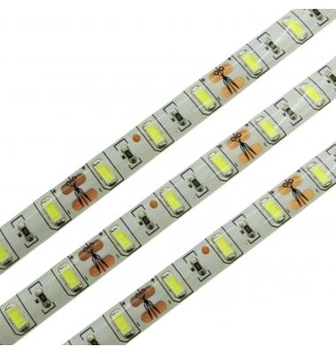 Tira LED 15W/m. 12VDC, SMD5630. Carrete 5 metros. 60 LEDs/m. Interior - Espacios Húmedos - IP55