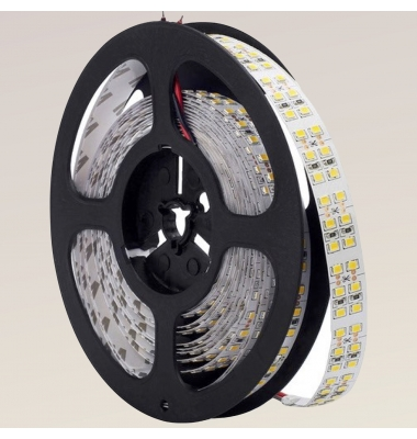 Tira LED 19.2W/m. 12VDC, SMD3528. Carrete 5 metros. 240 LEDs/m. Interior-IP20