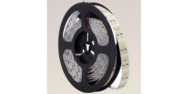 Tira LED 19.2W x metro.12VDC, SMD3528. Rollo 5 metros. 240 LEDs/metro. Uso Interior - IP20