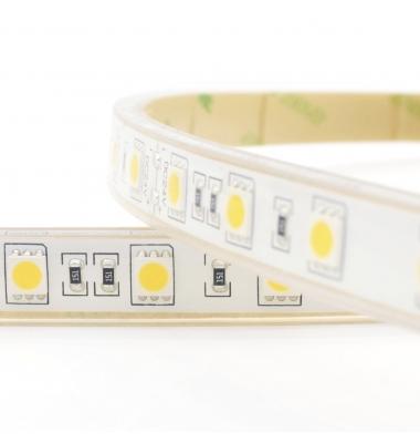 Tira LED 14,4W/m. 12VDC, SMD5050. Carrete 5 metros. 60 LEDs/m. Exterior-IP68