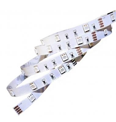 Tira LED RGB 7.2W x metro.12VDC, SMD5050. Rollo 5 metros. 30 LEDs/metro. Uso Interior - IP20