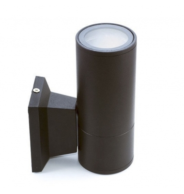 Aplique Pared Exterior - Interior Duo Negro. 1*GU10. IP54