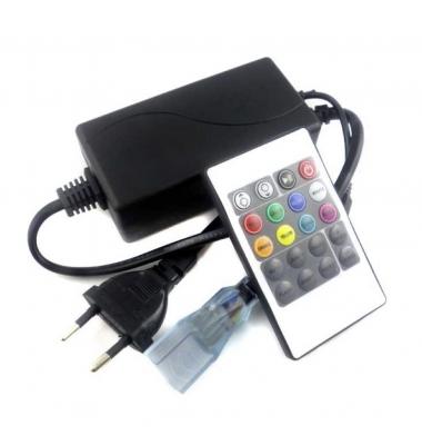 Controlador Tiras RGB de 220V. Con mando a distancia. Máximo 700W