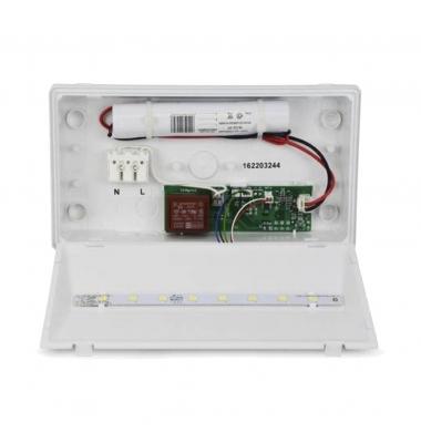 Luz de Emergencia EXIT LED 100 Lumen. Superficie. Difusor Opal. No permanente. IP42