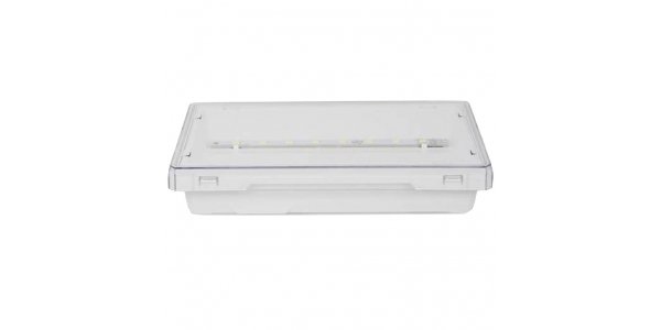 Luz de Emergencia EXIT LED 100 Lumen. Superficie. Difusor Transparente. No permanente. IP42