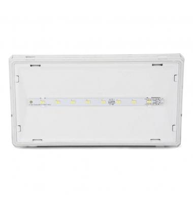 Luz de Emergencia EXIT LED 100 Lumen. Superficie. Difusor Transparente. No permanente. IP42
