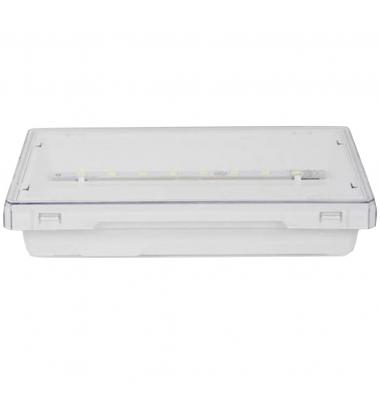 Luz de Emergencia EXIT LED 300 Lumen. Superficie. Difusor Transparente. No permanente. IP42