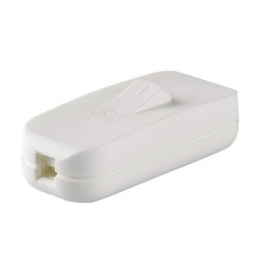 Interruptor Estrecho Blanco de Paso 2A - 250V: Para Lámparas,