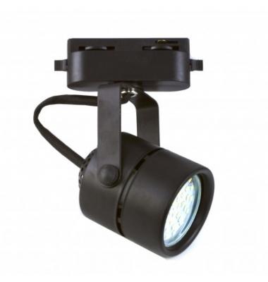 Foco Carril Negro LED Tip. Para Bombillas LED GU10