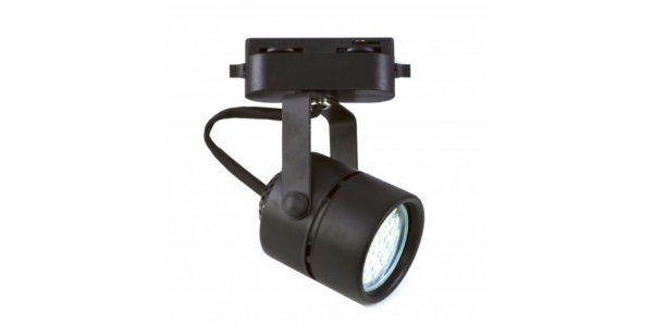 Foco Carril Negro LED Tip. Para Bombillas LED GU10