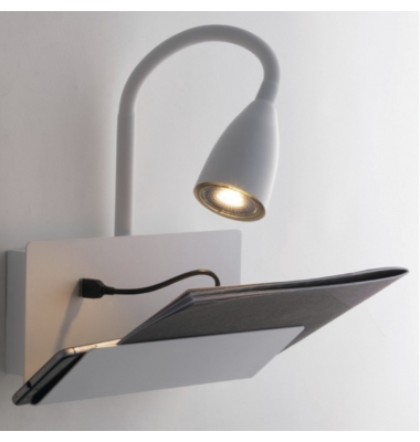 Aplique Pared Interior GULP de la marca Luce Ambiente Design. 1*GU10. 230*270-490mm