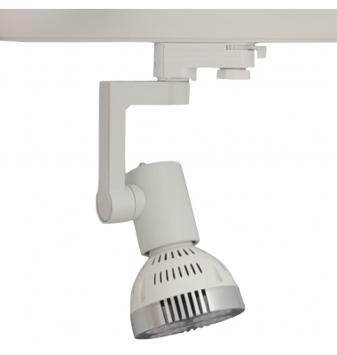 Foco Carril Orientable Trifásico Blanco PAR30 35W LED Osram. 3 encendidos. Ángulo 25º