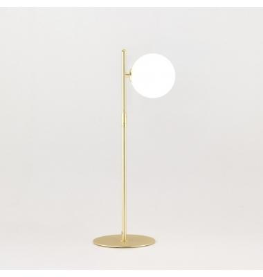 Lámpara de sobremesa ENDO acabado Cromo de la marca Aromas. Diámetro 200mm. 1*G9.