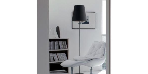 Lámpara de Pie Interior ELVIS de la marca Luce Ambiente Design. 1550*Ø340mm. 1*E27