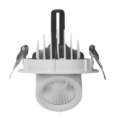 Foco Proyector LED Orientable 12W. Blanco Cálido. Ángulo 24º.