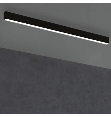 Plafón Lineal Ti-Zas Negro de la marca Olé by FM. LED 18W. Longitud 113 cm