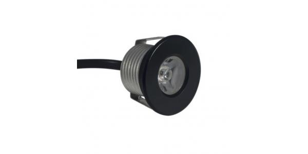 Foco LED Puck Mini Empotrar. 1W-12V. Blanco Cálido. Ángulo 30º