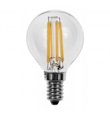 Bombilla LED E14, G45, Esférica, 4W, 2700k, Blanco Cálido. Ángulo 360º