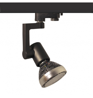 Foco Carril Orientable Monofásico Negro PAR30 35W LED Osram. 1 encendidos. Ángulo 25º