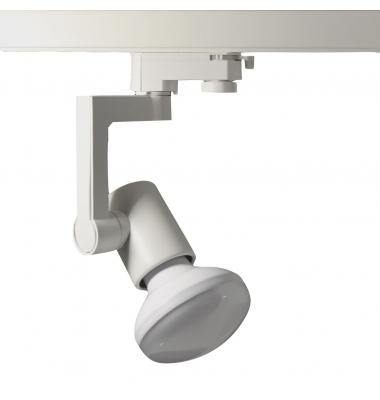 Foco Carril Orientable Bifásico, Blanco, Incluye R90 12W LED, Ángulo 180º