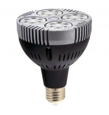 Bombilla LED PAR30 Negra E27 35W. Ángulo 60º. Blanco Natural