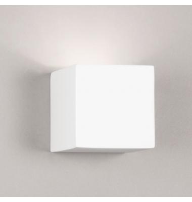 Aplique de Pared de Yeso RubiK. Sistema Bombilla LED G9