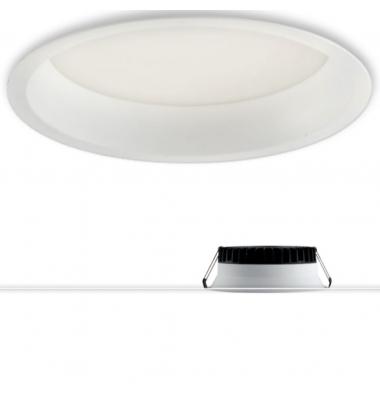 Downlight Foco LED Xanto Redondo 18W - 1500 Lm. Blanco Cálido . Ángulo 98º