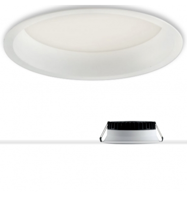 Luminaria Downlight LED Xanto Redondo 18W - 1600 Lm. Blanco Natural - 5000k. Ángulo 98º