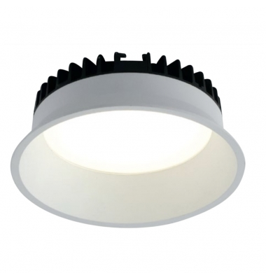 Downlight Foco LED Xanto Redondo 12W - 980 Lm. Blanco Natural . Ángulo 98º