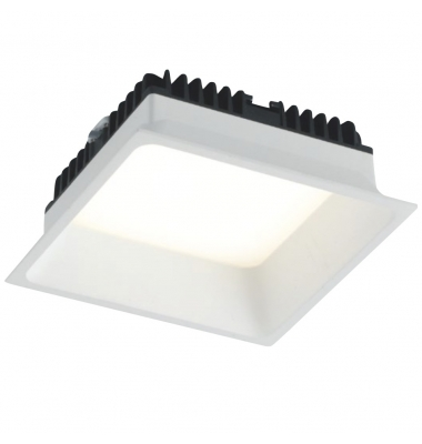 Downlight Foco LED Xanto Cuadrado 12W - 980 Lm. Blanco Natural . Ángulo 98º