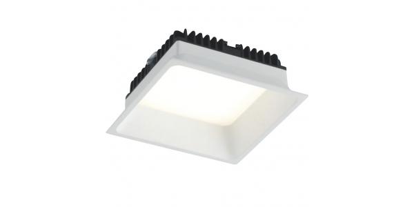 Downlight Foco LED Xanto Cuadrado 12W - 980 Lm. Blanco Natural . Ángulo 98º