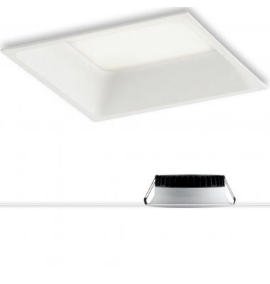 Downlight Foco LED Xanto Cudrado 18W - 1550 Lm. Blanco Natural . Ángulo 98º