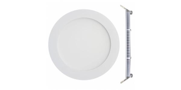 Downlight LED panel Blanco 12W - 850Lm Bid. Blanco Cálido Ángulo 120º