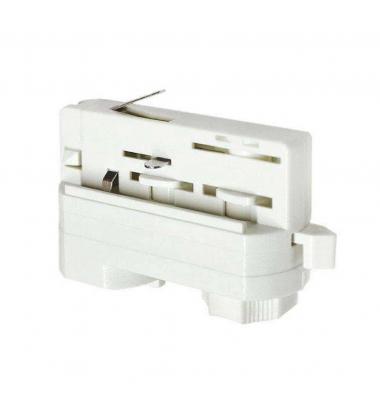 Conector Adaptador Carril Trifásico Blanco. Colgantes, Proyectores