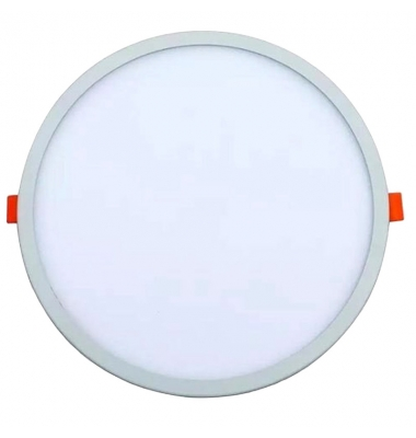 Downlight Ajustable LED Bid Blanco 20W. 1550 Lm. Ángulo 120º. Blanco Cálido. Agujero 50mm a 210mm