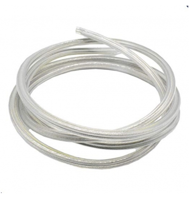 Cable Manguera Redonda Transparente 2 Hilos. 2 x 0.75mm. 1 metro