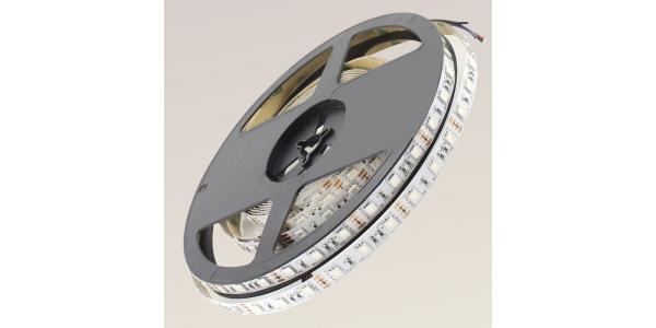 Tira LED RGB 14.4W x metro. 12VDC. SMD5050. Rollo 5 metros. 60 LEDs/metro. Uso Interior - IP20