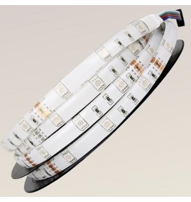 Tira RGB 7.2W/m. 12VDC, SMD5050. Carrete 5 metros. 30 LEDs/m. Interior - Espacios Húmedos - IP55