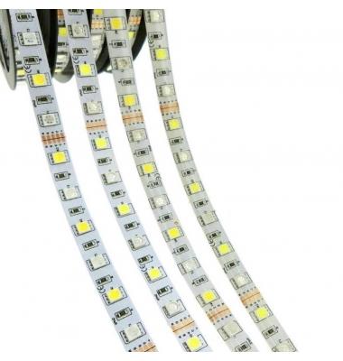 Tira RGB + Luz Cálida 14.4W/m. 12VDC. SMD5050. Carrete 5 metros. 60 LEDs/m. Interior - Espacios Húmedos - IP55