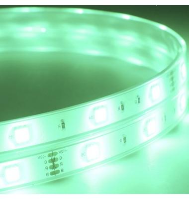 Tira RGB 7.2W x metro. 12VDC, SMD5050. Rollo 5 metros. 30 LEDs/metro. Uso Exterior y Espacios Húmedos - IP68
