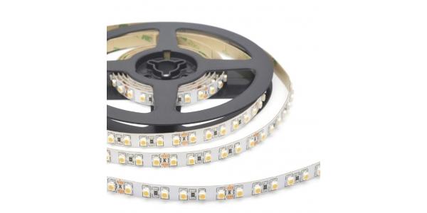 Tira LED 9.6W x metro. 24VDC,SMD3528. Rollo 5 metros. 120 LEDs/meto. Uso Interior - IP20