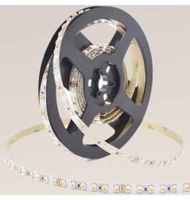Tira LED 9.6W/m. 24VDC, SMD3528. Carrete 5 metros. 120 LEDs/m. Interior-IP20