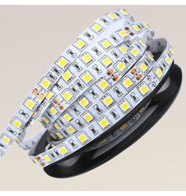 Tira LED 14,4W/m. 24VDC, SMD5050. Carrete 5 metros. 60 LEDs/m. Interior-IP20