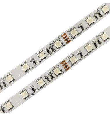 Tira RGB 14.4W x metro. 24VDC. SMD5050. Rollo 5 metros. 60 LEDs/metro. Uso Interior - IP20