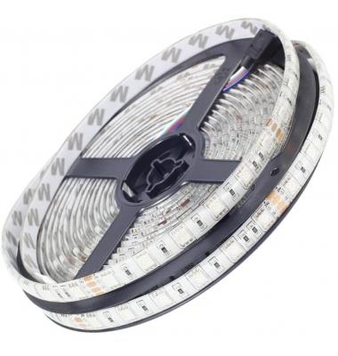 Tira RGB 14.4W/m. 24VDC. SMD5050. Carretes 5 metros. 60 LEDs/m. Interior - Espacios Húmedos - IP55